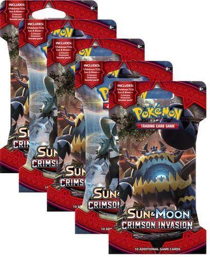 25x Pokemon Sun /& Moon Crimson Invasion Sealed Booster Packs