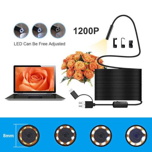 3 in 1 USB Typ C Endoskop Inspektions Endoskop 5.5//7//8mm Objektiv HD KameraWLTE