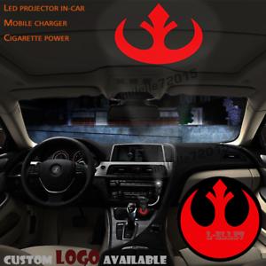 Wireless Red Star Wars Rebel Alliance Logo Car Door Projector Ghost Shadow Light