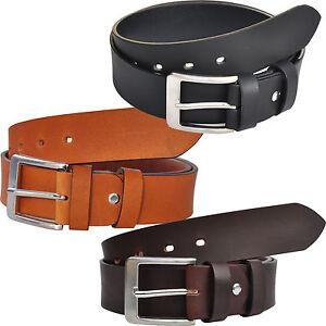 VOLL-Leder-Guertel-Belt-4cm-Breit-Farbe-und-Laenge-Waehlbar-ca-4mm-Dick