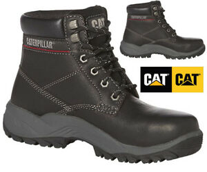 Image is loading WOMEN-CATERPILLAR-SAFETY-WORK-BOOTS -LEATHER-DURABLE-TRAINERS- 983af44e46