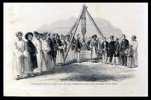 HIS EXCELLENCY SIR HBE FRERE LAYING THE CHIEF CORNERSTONE 1863 ENGRAVING - Deal, United Kingdom - HIS EXCELLENCY SIR HBE FRERE LAYING THE CHIEF CORNERSTONE 1863 ENGRAVING - Deal, United Kingdom