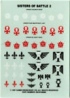 Adepta Sororitas Sisters Of Battle Datacards Deck 1 /& 2 Warhammer Data Cards 40k