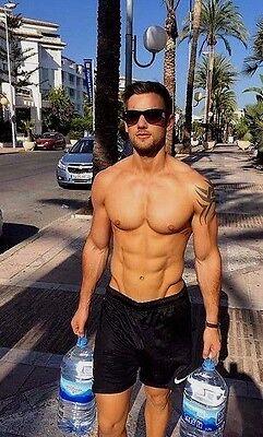 Shirtless Male Beefcake Athletic Gym Jock Hunk Athlete Hot