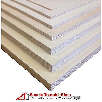 Sperrholz 18mm Multiplexplatte 35€/m² Birke Regal Werkbank Holzplatte Massivholz