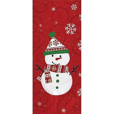 Very Merry Snowman Snowman Large Party Treat Bags & Ties From Amscan #378499 Baking Accs. & Cake Decorating