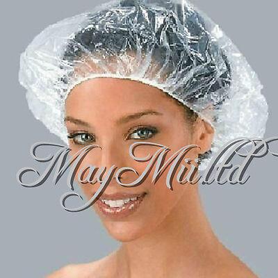 Disposable Clear 20×50×100× Spa Hair Salon Shower Bathing Elastic Caps Hat  CA