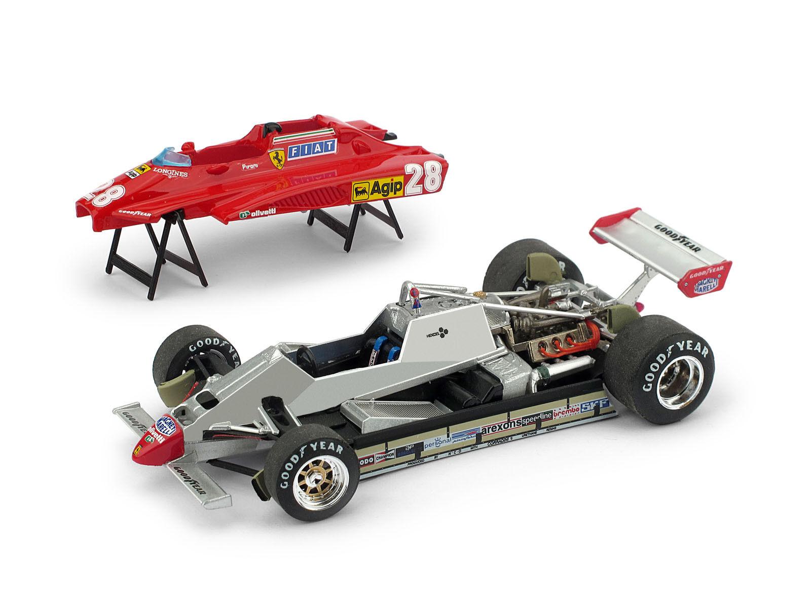 Ferrari 126 (d. pironi 1982   28. san marino gp apribile begrenzte 250 pcs 1 43