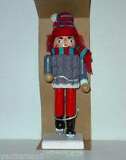 Skier Wooden Nutcracker Christmas Tabletop Holiday Accent ...