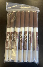 Expo Brown Low Odor Dry Erase Marker Fine Point Set Of 12 New Open Box