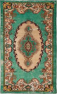 Hand-knotted-Turkish-Carpet-5-039-6-034-x-9-039-2-034-Antalya-Vintage-Traditional-Wool-Rug