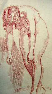 FIGURE-STUDY-A-STANDING-LEANING-NUDE-IN-RED-CHALK-ENG-SCH-C1930