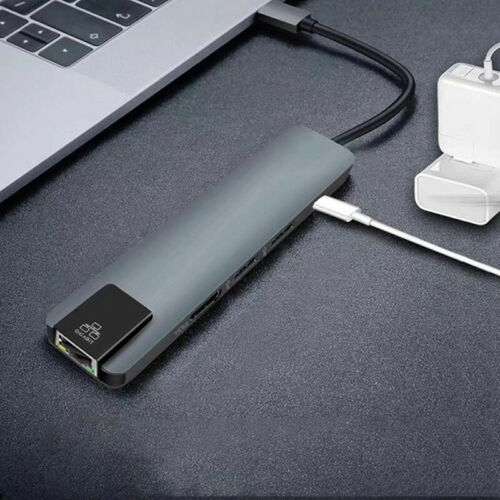 5 in 1 USB Type C Hub Hdmi 4K USB C Hub to Gigabit Ethernet Rj45 Lan Adapt SL