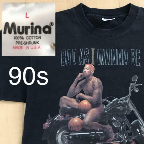 Dennis Rodman 90S Vintage Tee T-Shirt Black Size L