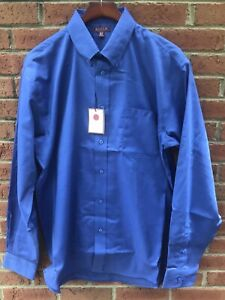 70-RED-HOUSE-MENS-COTTON-DK-BLUE-CLASSIC-OXFORD-DRESS-SHIRT-4XLT-4XL-XXXXL-TALL