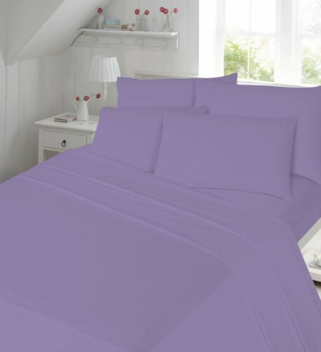 """40 CM 100/% Brushed Cotton Thermal Flannelette Extra Deep 16/"""" Fitted Sheets"""