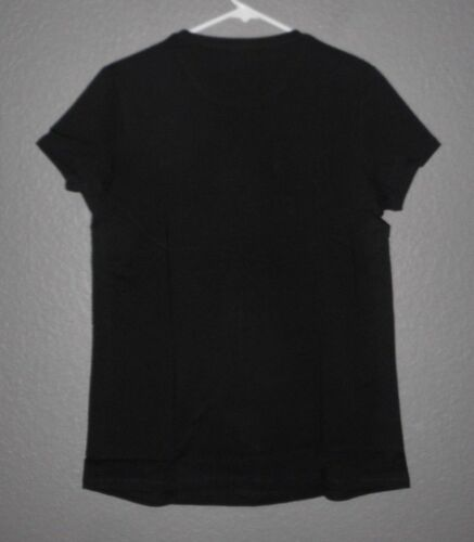 short sleeve t-shirt TOP Women/'s sz Large NEW Liz Lange Maternity Black Ebony