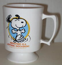 """1970's Snoopy Child's Plastic Cup """"Mealtime Is A Joyous Occasion"""""""