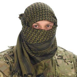 NEW-ARMY-GREEN-ARAB-SHEMAGH-SCARF-SAS-SF-CADETS-TA-PARA-SURVIVAL-100-Cotton