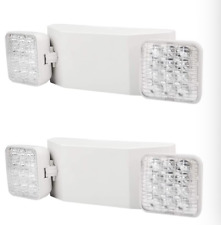 2 Pack Led Emergency Exit Light Adjustable 2 Head With Battery Back Up Ul 924