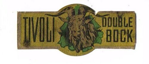 1930s MICHIGAN Detroit TIVOLI DOUBLE BOCK BEER Neck Label
