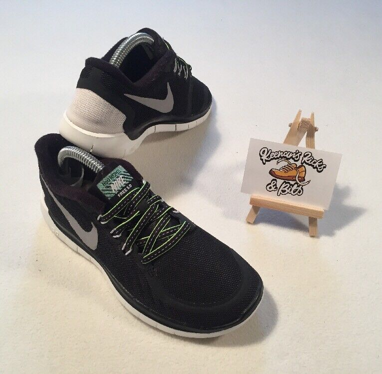 Nike 5.0 Flash GS Black Reflect Silver H20 Repel Running Trainers UK 3 'YM YOGA