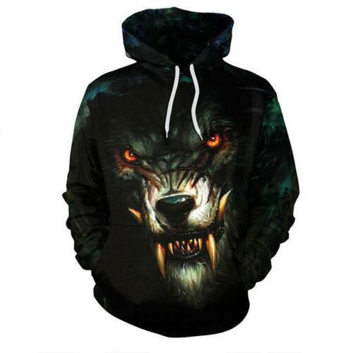 Unisex Galaxy Wolf Lion Tiger 3D Print Hoodie Sweatshirt Jacket Coat Jumper Tops