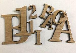 Volontaire En Bois Chêne Découpé Au Laser Alphabet Bt Lettres & Chiffres, 11 Mm épais Découpe Laser Decorati-afficher Le Titre D'origine