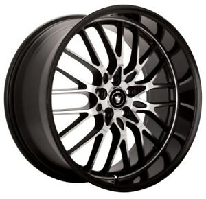 Quantity of 1 ADVANTI Prodigo Rim 20X8.5 5X120 Offset 35 Black//Machine Spoke