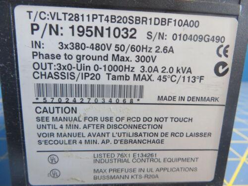 Danfoss VLT 2800 AC Drive 380-480V 3.0A 2.0 kVA