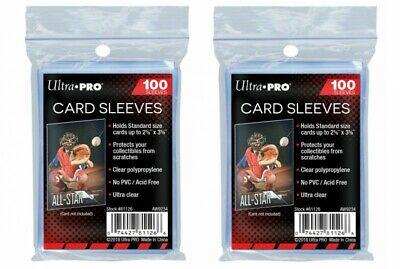 Ultra Pro lot de 2 x 100 pochettes protèges cartes 200 Store Safe Sleeves JCC