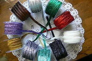 Metallic-Velvet-Glitter-10mmWide-2-Met-lengths-10-Colour-Choice-May-Arts-CR13