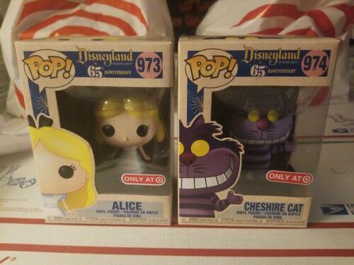 Funko Pop Cheshire Cat#974,,,,ALICE #973Target Exclusive  Disneyland 65th ANNIVE