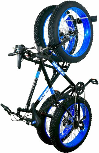 StoreYourBoard BLAT Bike Fat Tire Wall Rack Holds 2 Bikes Metal Storage Hooks