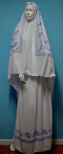 Set aus Khimar /& Rock Gebetskleidung 2-tlg Kopftuch-Hijab ISLAM-ABAYA