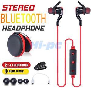Bluetooth 4.1 Wireless Stereo Earphone Earbud Sport Headsets Headphone Universal