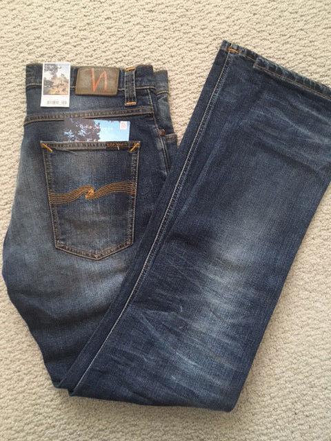 Nudie Jeans Morte Morte Morte Tim Jon Replica Lunghezza È 32 su Tutti i Nuovo Mai Indossato 2a559f