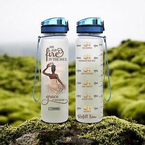 32 Oz Fruit Infusion Motivational Water Tracker Bottle Giraffe