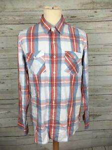 Men-039-s-Levi-Shirt-Large-Check-Great-Condition