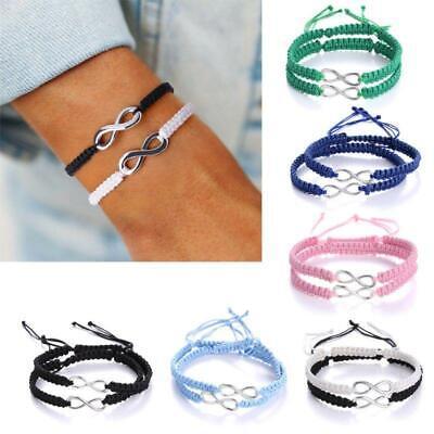 8 Silvertone Black Camera Friends Infinity Toggle Chain Bracelet