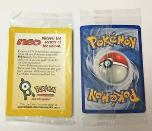 Black Star Promo SEALED Entei 34 Pokemon Card Neo Discovery Reverse Holo