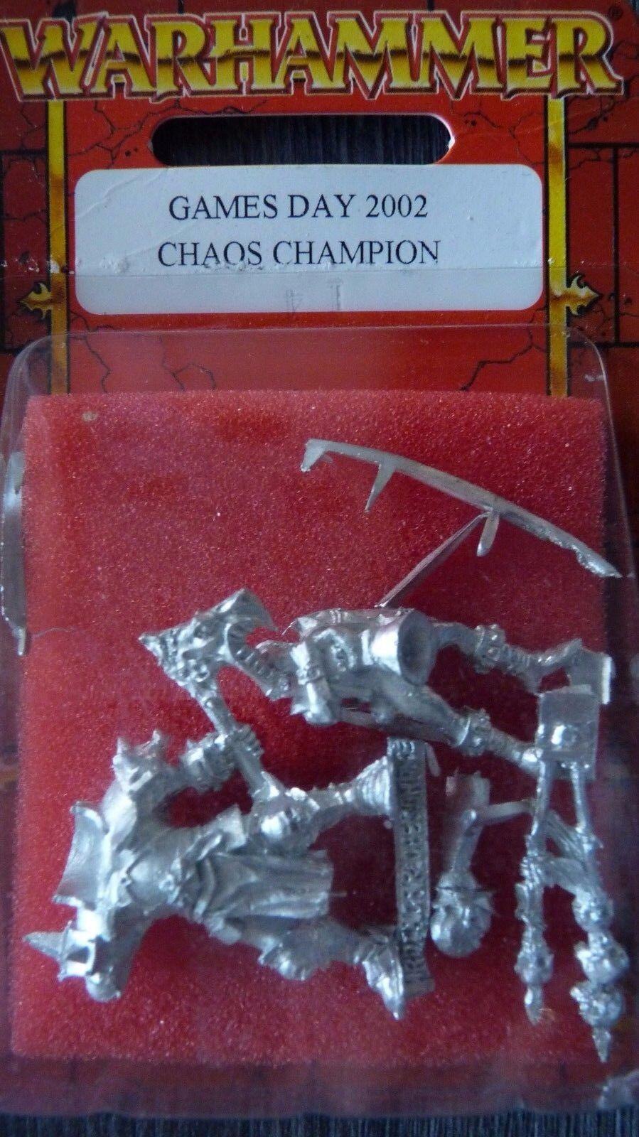 Whfb Limited Edition Edition Edition Games Day 2002 Champion du Chaos hrougehgaar En parfait état, dans sa boîte & programme ed54f8