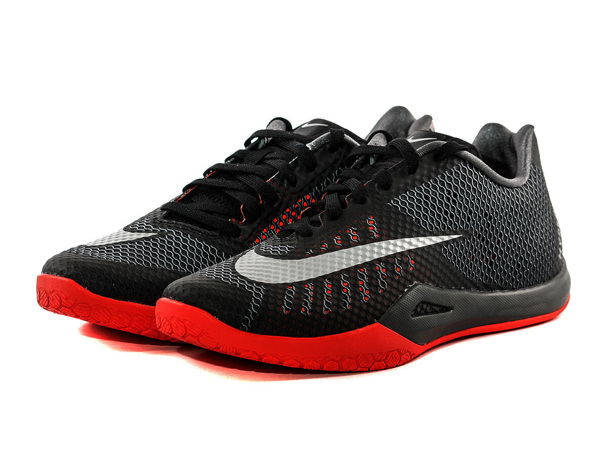 MEN'S NIKE HYPERLIVE BASKETBALL GREY/ BLACK / RED 819663 002  SIZE 13 best-selling model of the brand