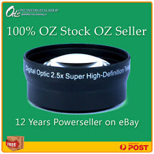 ODS 2.5x HD Telephoto Zoom Lens for 37mm Digital Camera or Video Camcorder