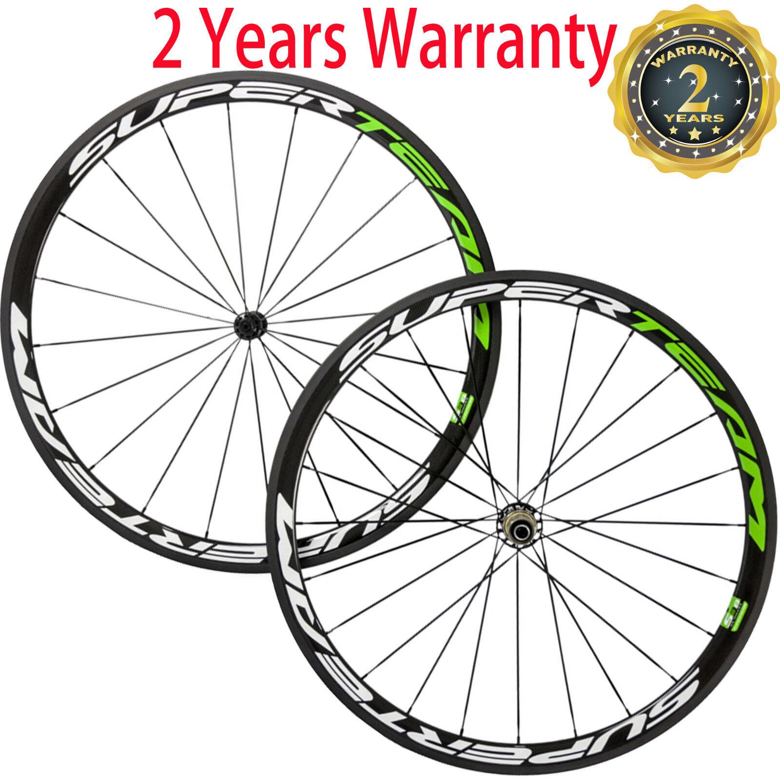 Carbon Wheels 38mm Road Bike  Cycling Race Wheelset Powerway R39 Hub 700C Bicycle  sale online save 70%