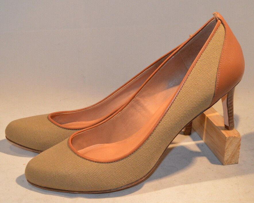Para Mujeres Zapatos, Ann Ann Ann Taylor bombas, de cuero y tela combinación, 8.5 M  Venta en línea de descuento de fábrica