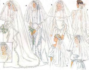 Image Is Loading Wedding Veil Pattern Butterick 4649 OOP