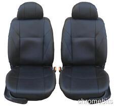 vorne schwarz Kunstleder Sitzbezüge für Ford Fiesta Focus Mondeo Connect Transit