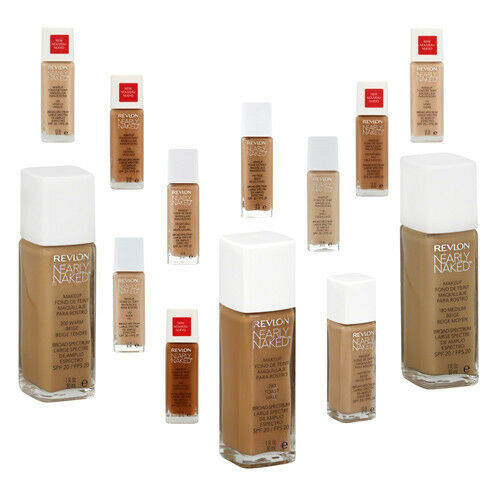 Revlon Nearly Naked Liquid Foundation Makeup - Choose Your Color