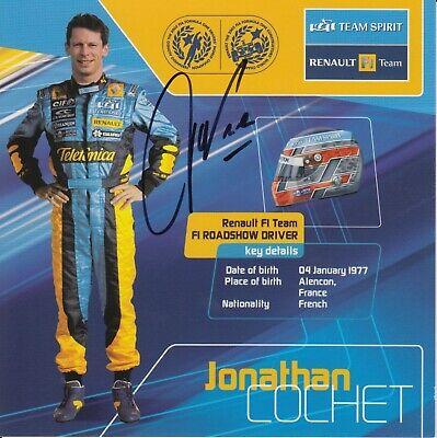 Jonathan Cochet Hand Signed Team Spirit Renault Promo Card.